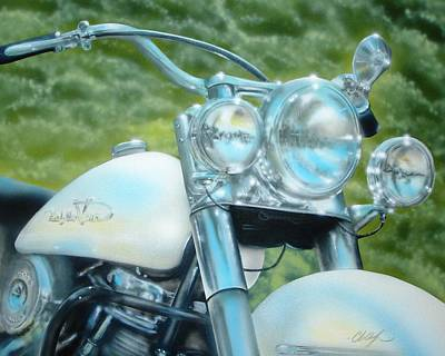 Painting - Pearl And Chrome by Chris Fraser