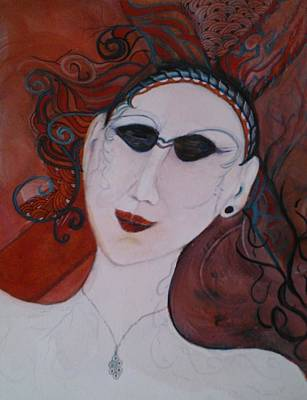 Mixed Media - Pearl And The Necklace by Marian Hebert