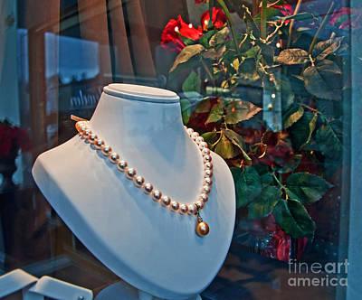 Photograph - Pearl Drop Necklace Art Prints by Valerie Garner