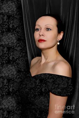 Photograph - Pearl Earring by Olga Hamilton