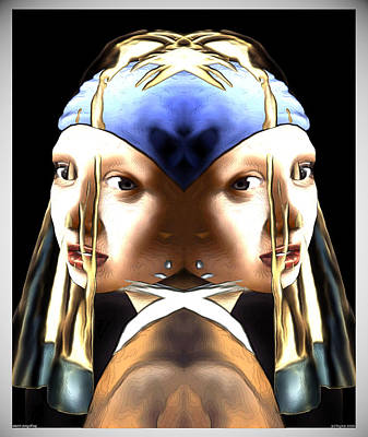 Digital Art - Pearl Earring Pearl by Zac AlleyWalker Lowing