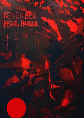 Pearl Harbor Oahu Art Print by Bari Demers