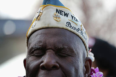 Photograph - Pearl Harbor Survivors Commemorate 72nd by John Moore