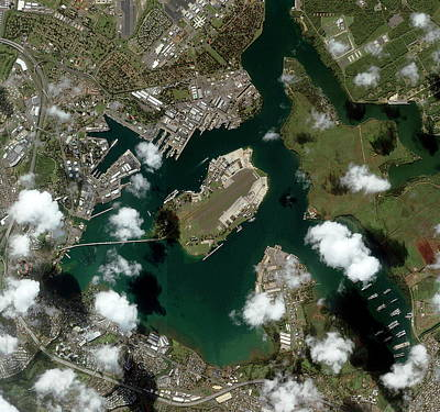 Pearl Harbour Art Print by Geoeye/science Photo Library