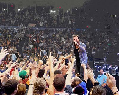 Pearl Jam Digital Art - Pearl Jam - Eddie Vedder by Michael  Wolf