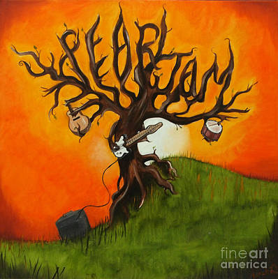 Pearl Jam Tree Art Print by Tarah Davis