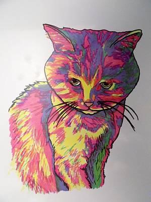 Pearl Cat Art Print