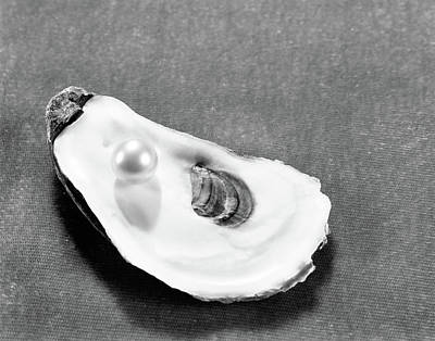 Pearl On Oyster Shell Art Print