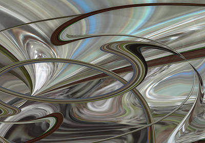 Digital Art - Pearl Swirl by Ginny Schmidt