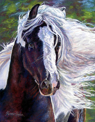 Painting - Pearlie King Gypsy Vanner Stallion by Denise Horne-Kaplan
