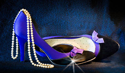 Pearls And Purple Pumps Art Print