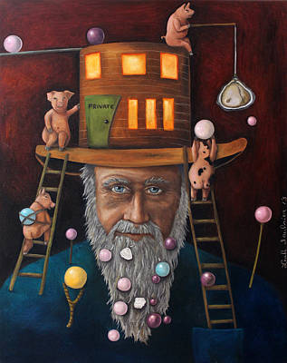Old Man Fishing Painting - Pearls For Swine Edit 2 by Leah Saulnier The Painting Maniac