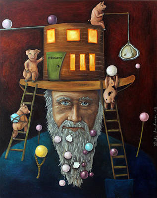 Old Man Fishing Painting - Pearls For Swine by Leah Saulnier The Painting Maniac