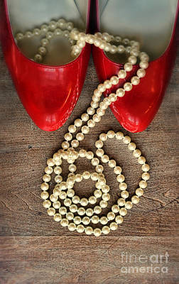 Photograph - Pearls In Red Shoes by Jill Battaglia