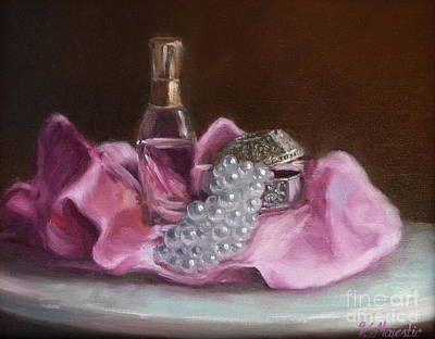 Treasure Box Painting - Pearls by Viktoria K Majestic