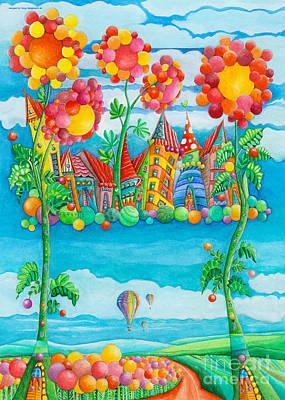 Childsroom Painting - Pearly Gate by Sonja Mengkowski