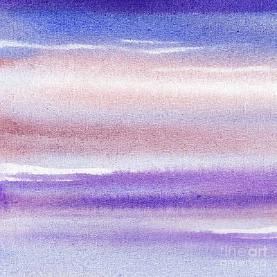 Abstract Painting - Pearly Sky Abstract IIi by Irina Sztukowski