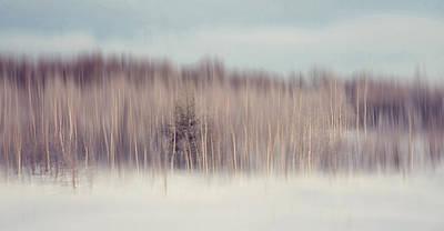 Pearly Winter. Impressionism Art Print by Jenny Rainbow
