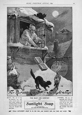 Pears  1899 1890s Uk Cc Sunlight Winter Art Print by The Advertising Archives