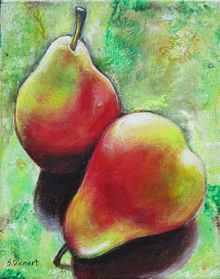 Pears 2 Art Print by Sheila Diemert