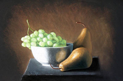 Painting - Pears And Grapes by Joseph Ogle