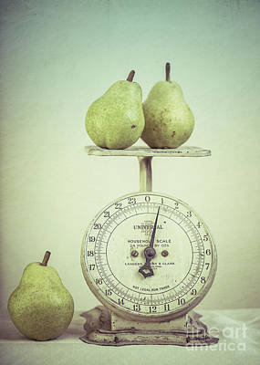 Photograph - Pears And Kitchen Scale Still Life by Edward Fielding