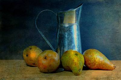 Pears And Pitcher Art Print