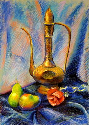 Decanters Drawing - Pears And Rose by Shelley Phillips