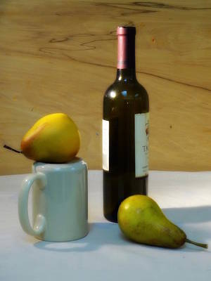Photograph - Pears And Wine by Deborah  Crew-Johnson