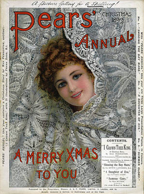 Pears Annual 1899 1890s Uk Cc Christmas Art Print by The Advertising Archives