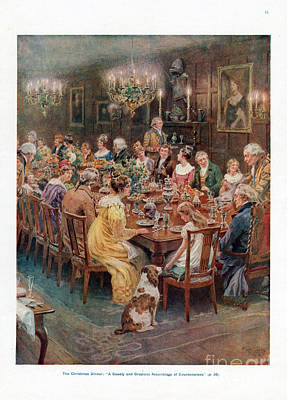 Nineteen-tens Drawing - Pears Annual 1910s Uk Cc Dinners by The Advertising Archives