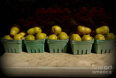 Photograph - Sunny Green Pears At The Fair by Miriam Danar