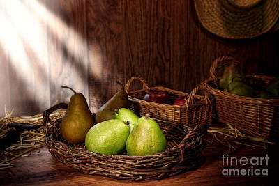 Pears At The Old Farm Market Art Print by Olivier Le Queinec