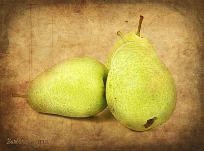Pears Art Print by Barbara Orenya