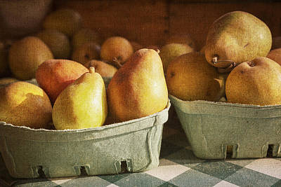 Checked Tablecloths Photograph - Pears by Caitlyn  Grasso