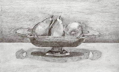 Drawing - Pears by Carmela Cattuti