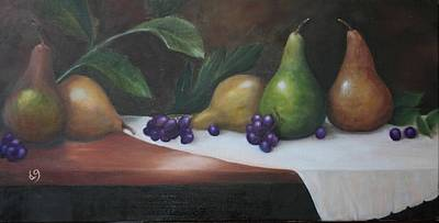 Painting - Pears by DG Ewing