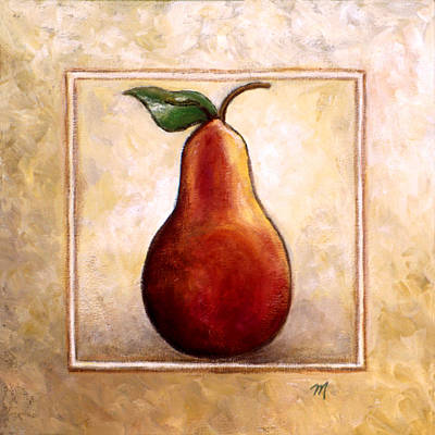 Fruit Painting - Pears Diptych Part One by Linda Mears