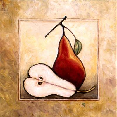 Pears Painting - Pears Diptych Part Two by Linda Mears