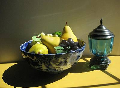 Photograph - Pears In A Bowl by Carolyn Jacob