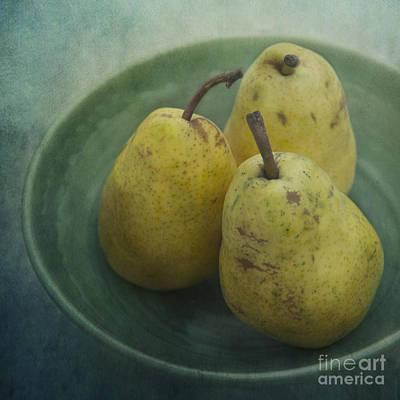 Pears In A Square Art Print by Priska Wettstein