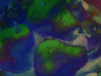 Pear Digital Art - Pears In Blue by Tg Devore