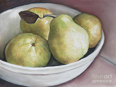 Drawing - Pears In Bowl by Charlotte Yealey