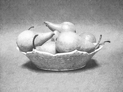 Photograph - Pears In Bowl by Frank Wilson