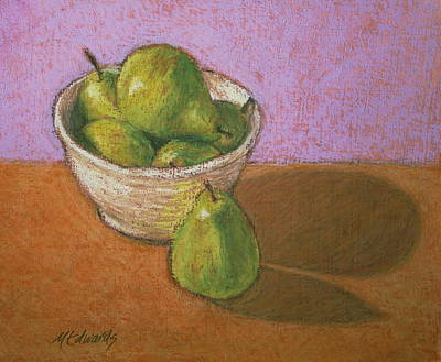 Painting - Pears In Bowl by Marna Edwards Flavell