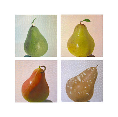 Pear Painting - Pears In Season Square by Don Young