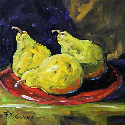 Quebec Painting - Pears In The Light By Prankearts by Richard T Pranke