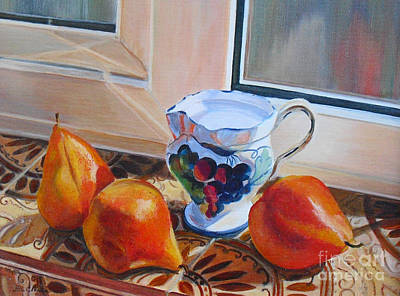 Painting - Pears Italian Style by Beatrice Cloake