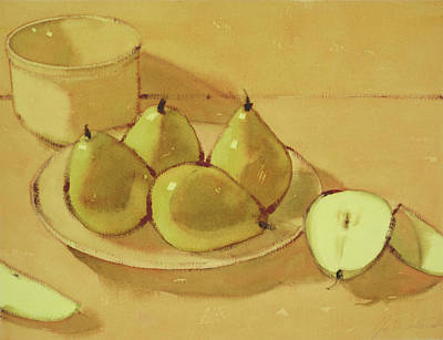 Painting - Pears by Joe Schneider