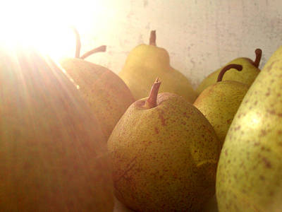 Art Print featuring the photograph Pears by Lucy D